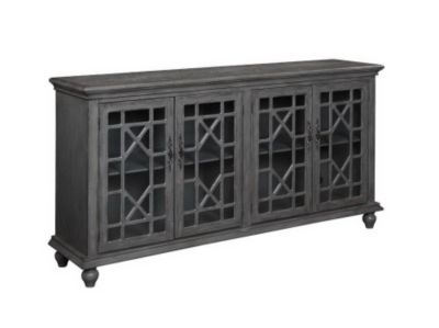 Coast To Coast Gray 4-Door Media Credenza
