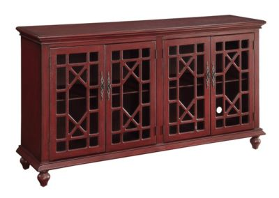 Coast To Coast Red 4-Door Media Credenza