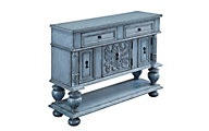 Coast To Coast Mabry Mill 2-Drawer Blue Storage Console