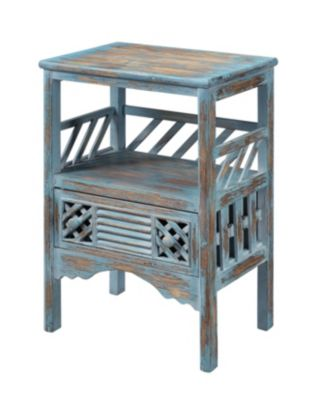 Coast To Coast Bali Blue Storage Accent Table