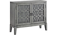 Coast To Coast Gray 2-Door Accent Cabinet
