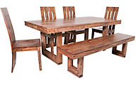 Coast To Coast Brownstone 6-Piece Dining Set