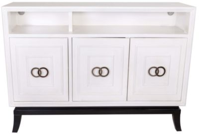 Coast To Coast Astor White 3-Door TV Console
