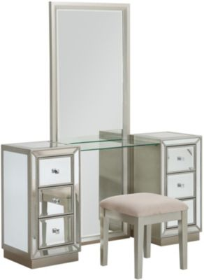 Coast To Coast Mirror Vanity and Stool