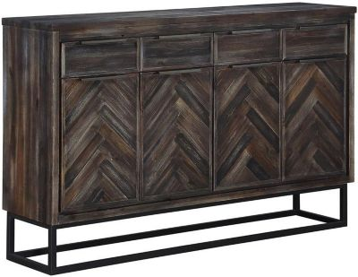 Coast To Coast Aspen Court Brown Four Drawer Media Console