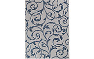 Central Oriental New Zealand 5' X 8' Blue Outdoor Rug