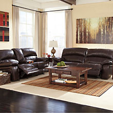 Casual Leather Couch and Loveseat