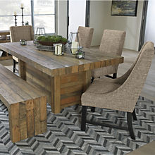 Rustic Farmhouse Dining Table Bench Sets
