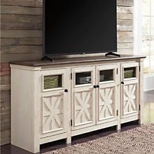 Rustic Farmhouse White TV Stand
