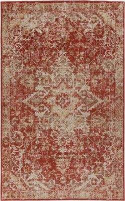 Nourison Mercier Red 5' X 7' Rug