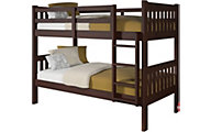 Donco Trading Co. Mission Twin/Twin Bunk Bed