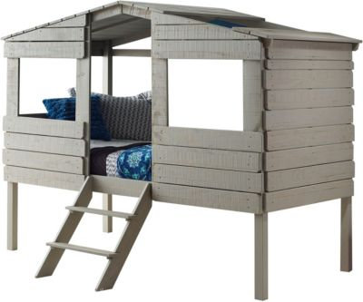 Donco Trading Co. Treehouse Rustic Grey Twin Loft Bed