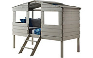 Donco Trading Co. Treehouse Rustic Grey Loft Bed