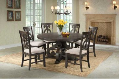 Elements International Group Stone dining set