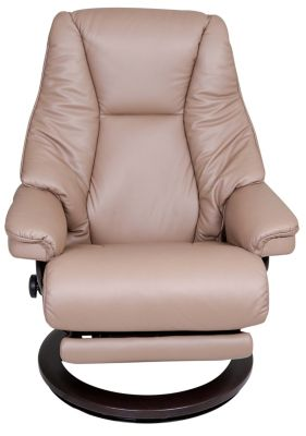 Ekornes Live Medium 100% Leather Chair with Power Footrest