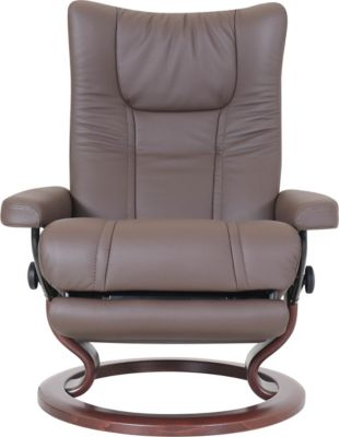 Ekornes Wing 100% Leather Large Power Chair