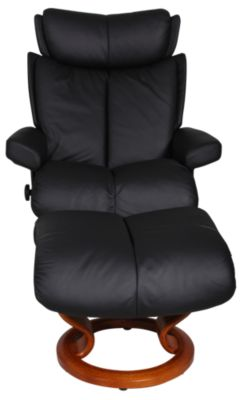 Ekornes Magic Medium 100% Leather Chair & Ottoman