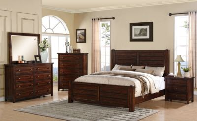 Elements International Group Dawson Creek 4-Piece Queen Bedroom Set