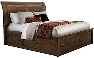 Elements International Group Dawson Creek King Storage Bed