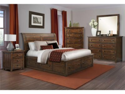 Elements International Group Dawson Creek 4-Piece Queen Storage Bedroom Set