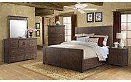 Elements International Group Jax 4-Piece King Bedroom Set