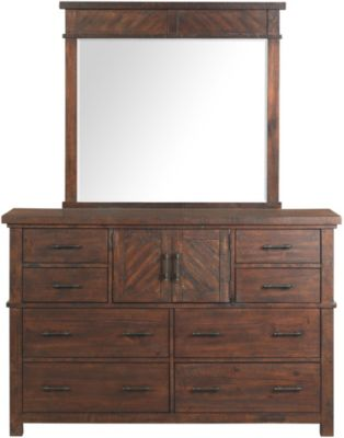 Elements International Group Jax Dresser & Mirror