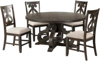 Elements International Group Stone 5-Piece Dining Set