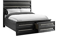 Elements International Group Capri King Storage Bed