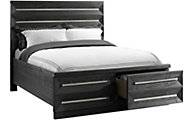 Elements International Group Capri Queen Storage Bed