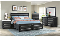 Elements International Group Capri 4-Piece King Bedroom Set
