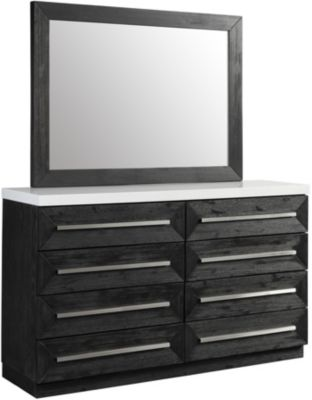 Elements International Group Capri Dresser With Mirror