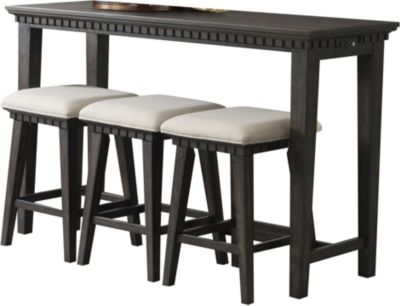 Elements International Group Morrison Console Table with 3 Stools