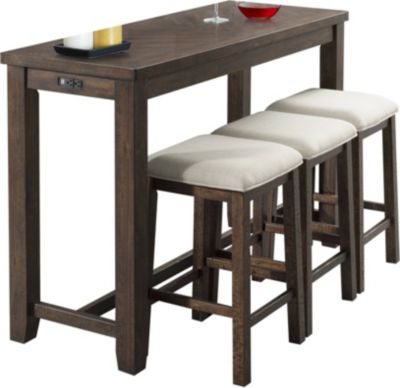 Elements International Group Jax Console Table with 3 Stools