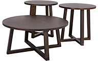Elements International Group Industrial Coffee Table & 2 End Tables