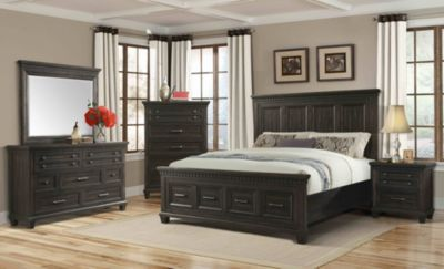 Elements International Group McCabe 4-Piece King Storage Bedroom Set