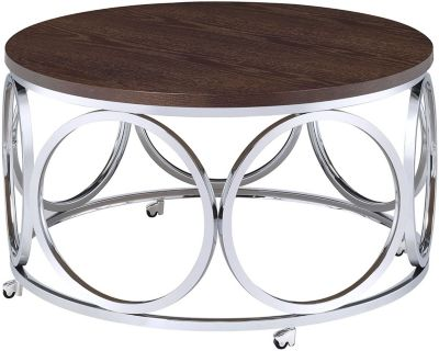 Elements International Group Alexis Round Coffee Table