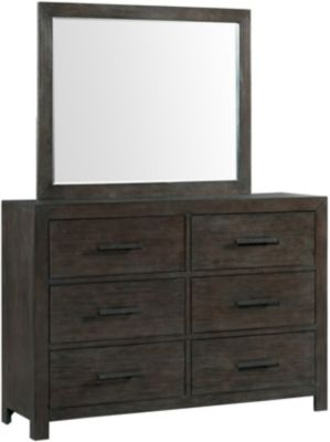 Elements International Group Shelby Dresser with Mirror
