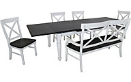 Emerald Home Furniture Mountain Retreat 6-Piece Dining Set