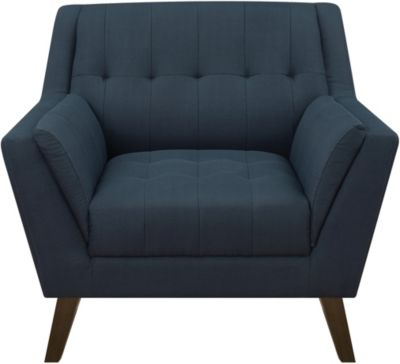 Emerald Home Furniture Binetti Navy Chair