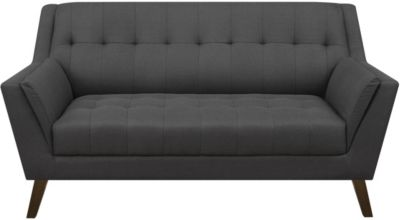 Emerald Home Furniture Binetti Charcoal Loveseat