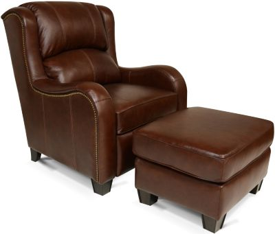 England Leonard 100% Leather Accent Chair