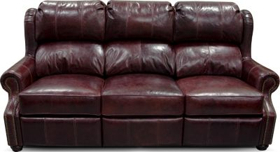 England Lucia 100% Leather Power Reclining Sofa