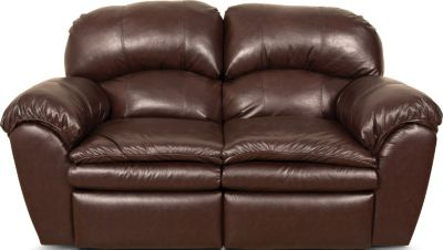 England Oakland Leather Reclining Loveseat