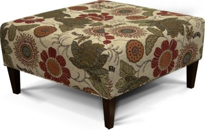England Steele Floral Cocktail Ottoman