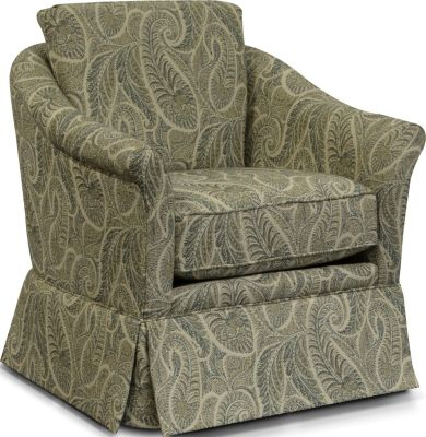 England Denise Floral Skirted Accent Chair