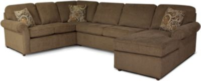 England Malibu Mocha Right-Side Chaise 3-Piece Sectional