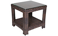 Erwin And Sons Monte Carlo All-Weather Wicker Outdoor Side Table