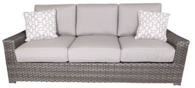 Erwin And Sons Santa Cruz All-Weather Wicker Outdoor Sofa