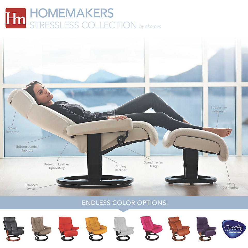 Ekornes Stressless Furniture Infographic from Homemakers