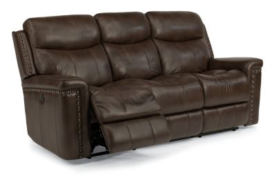 Flexsteel Grover Leather Power Reclining Sofa